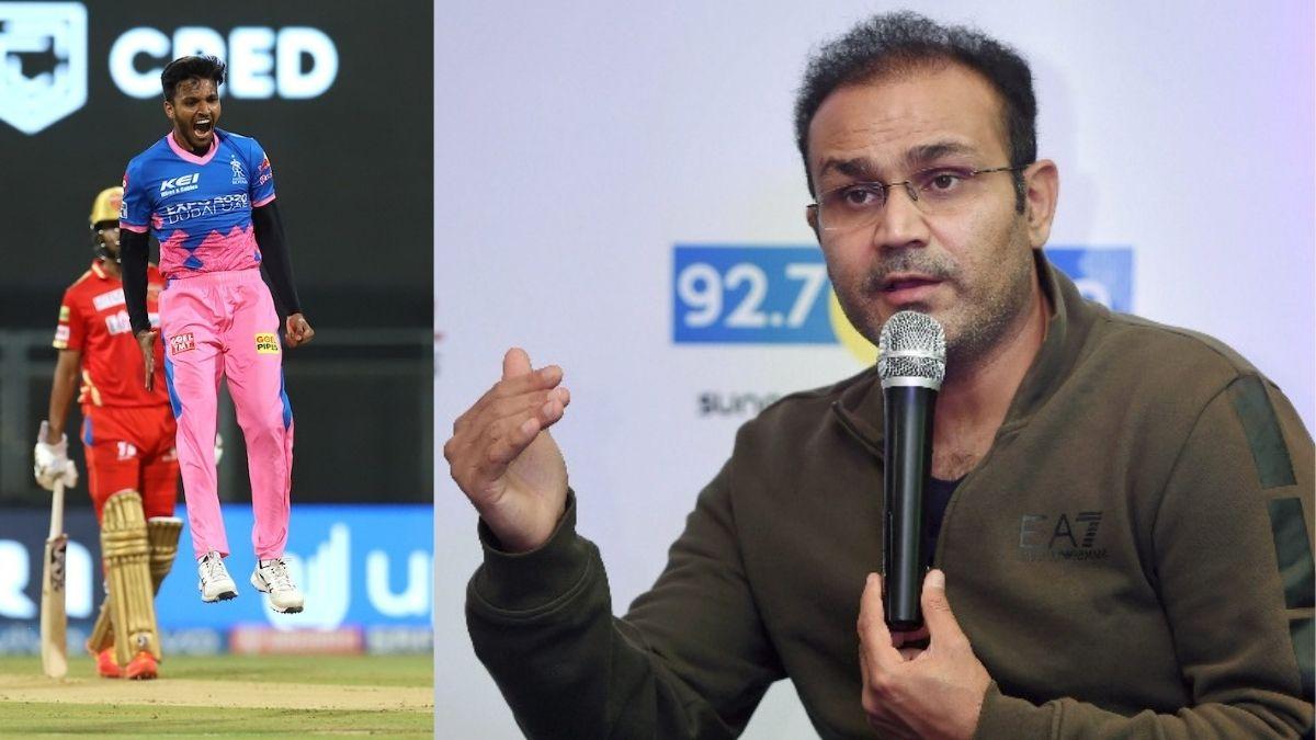 Chetan Sakariya(L) And Virender Sehwag (R)- Credit: Web